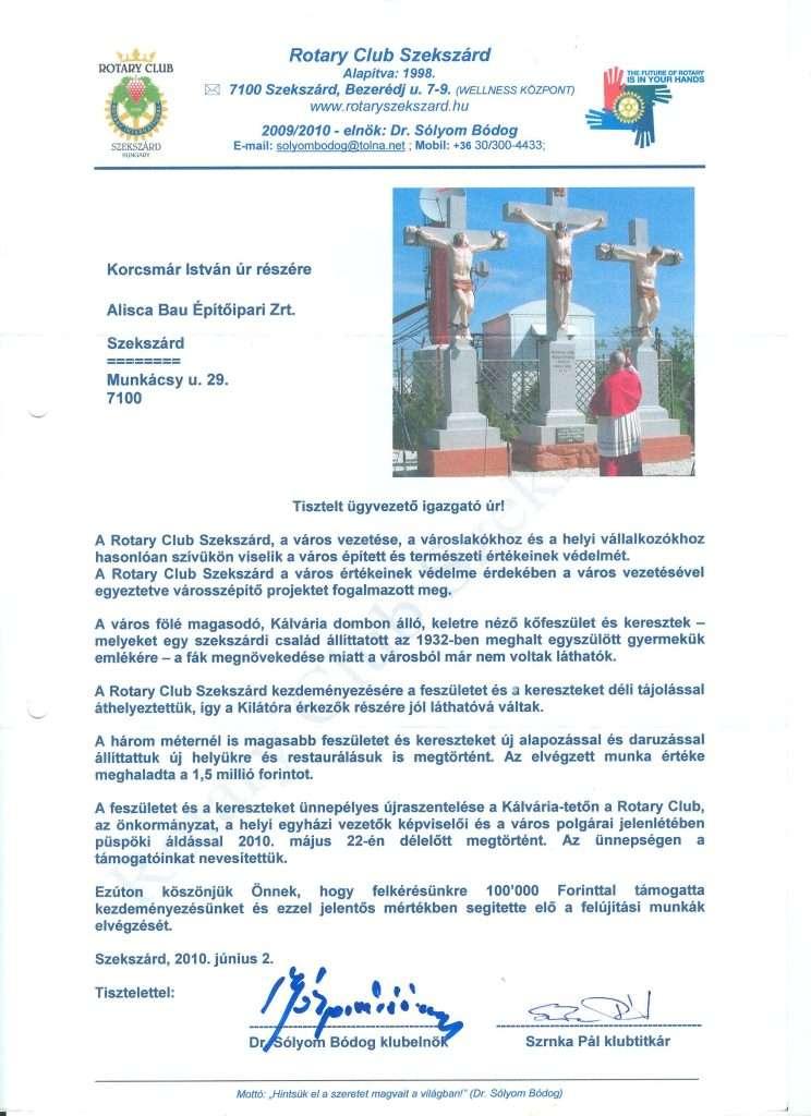 2010.06.02. Köszönőlevél Rotary Club 2010 001