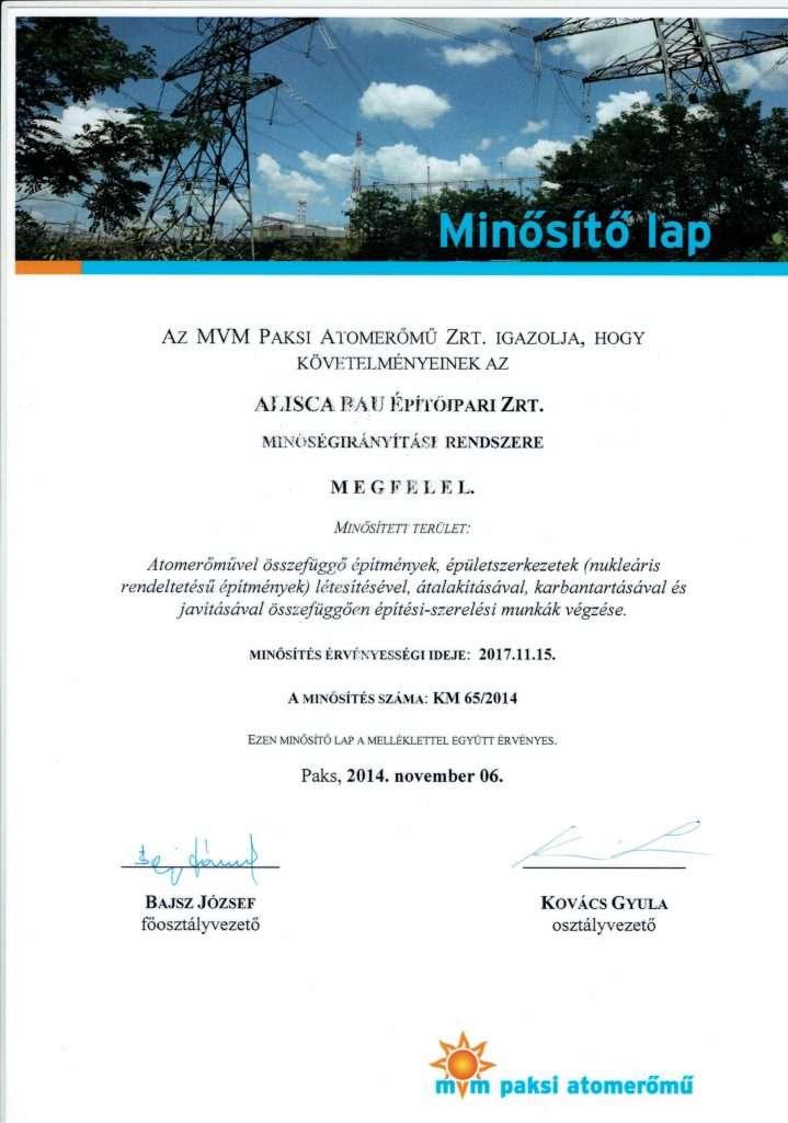 2014.11.06. MVM PA Zrt. Minősítő lap-1