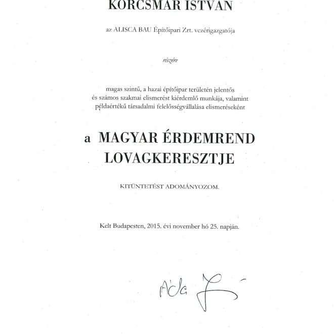 2015. Magyar Érdemrend Lovagkeresztje-1